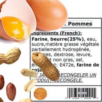 étiquetage alimentaire et allergènes