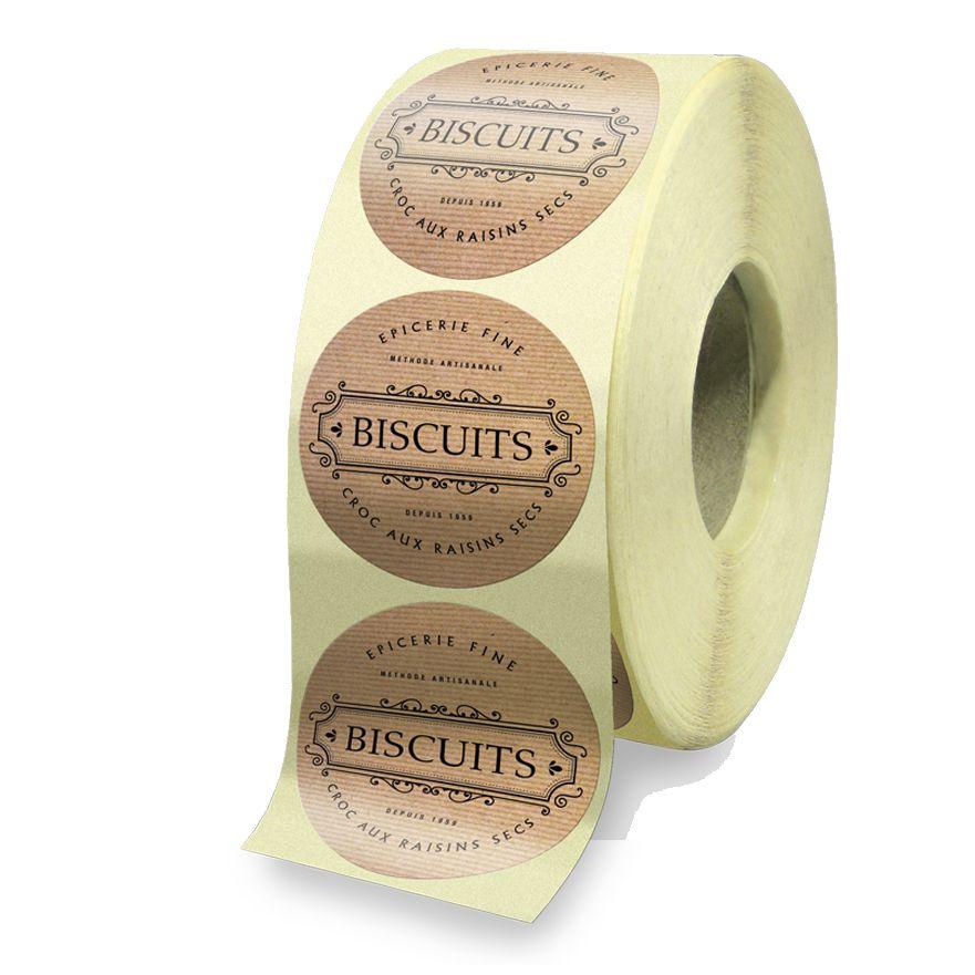 Etiquette papier karft naturel