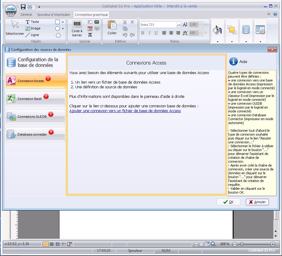logiciel S3 cab impression etiquettes