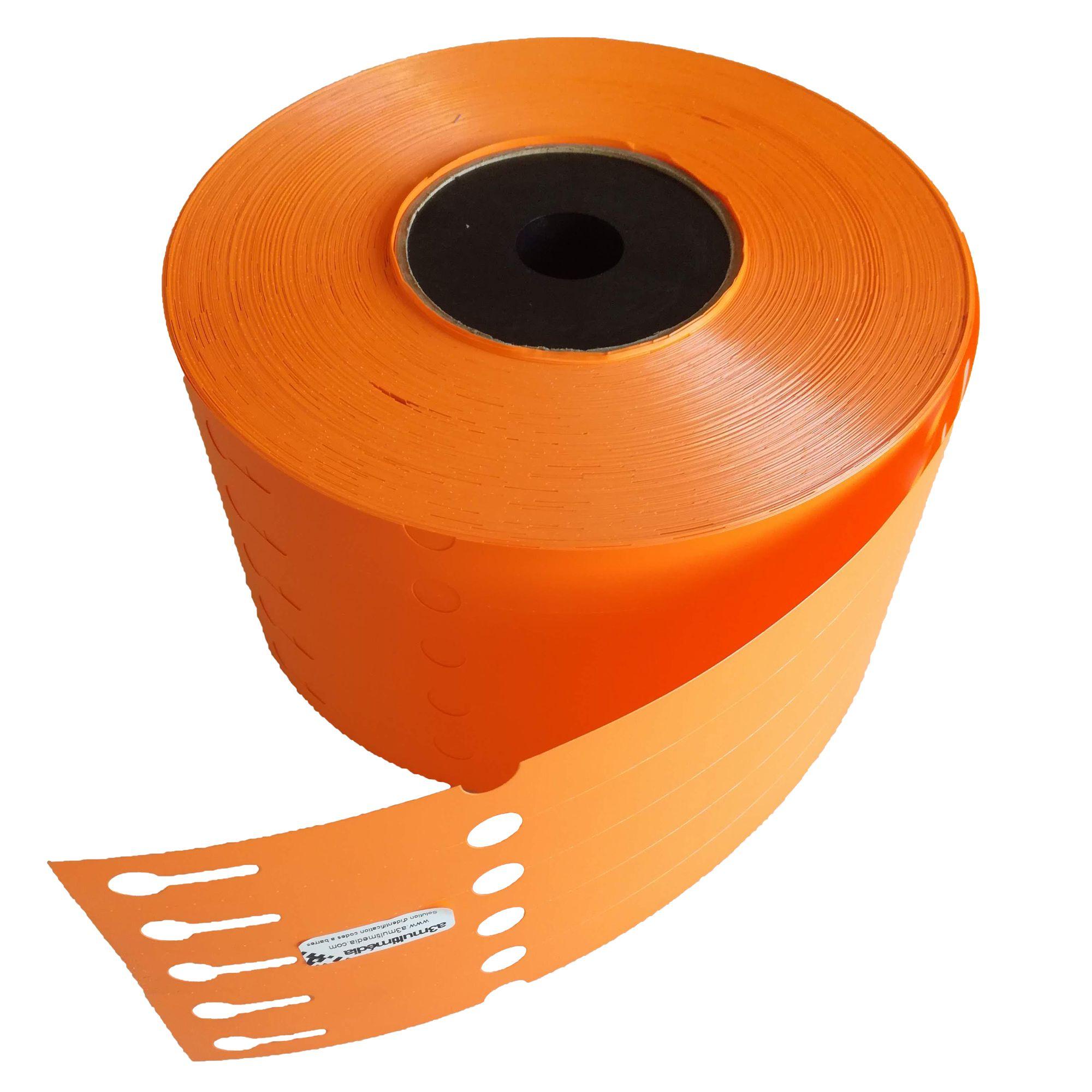 etiquette boucle horticole orange