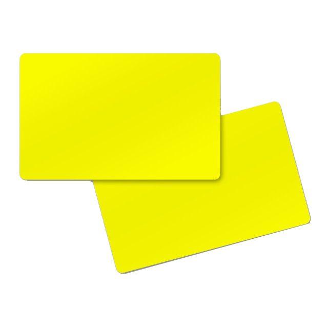carte pvc jaune