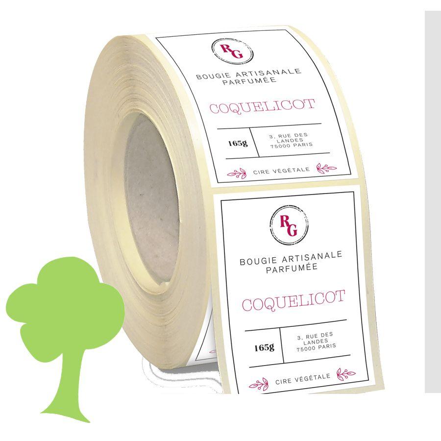 Etiquette papier recyclé écologique