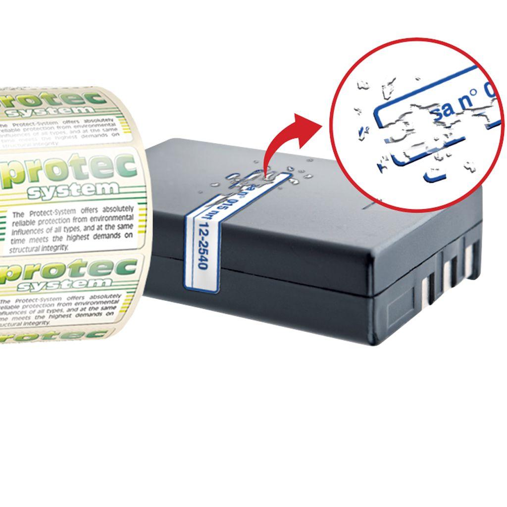 etiquettes destructibles transparente sécurité
