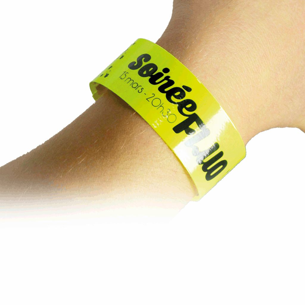 bracelet acces jaune vert orange rouge fluo