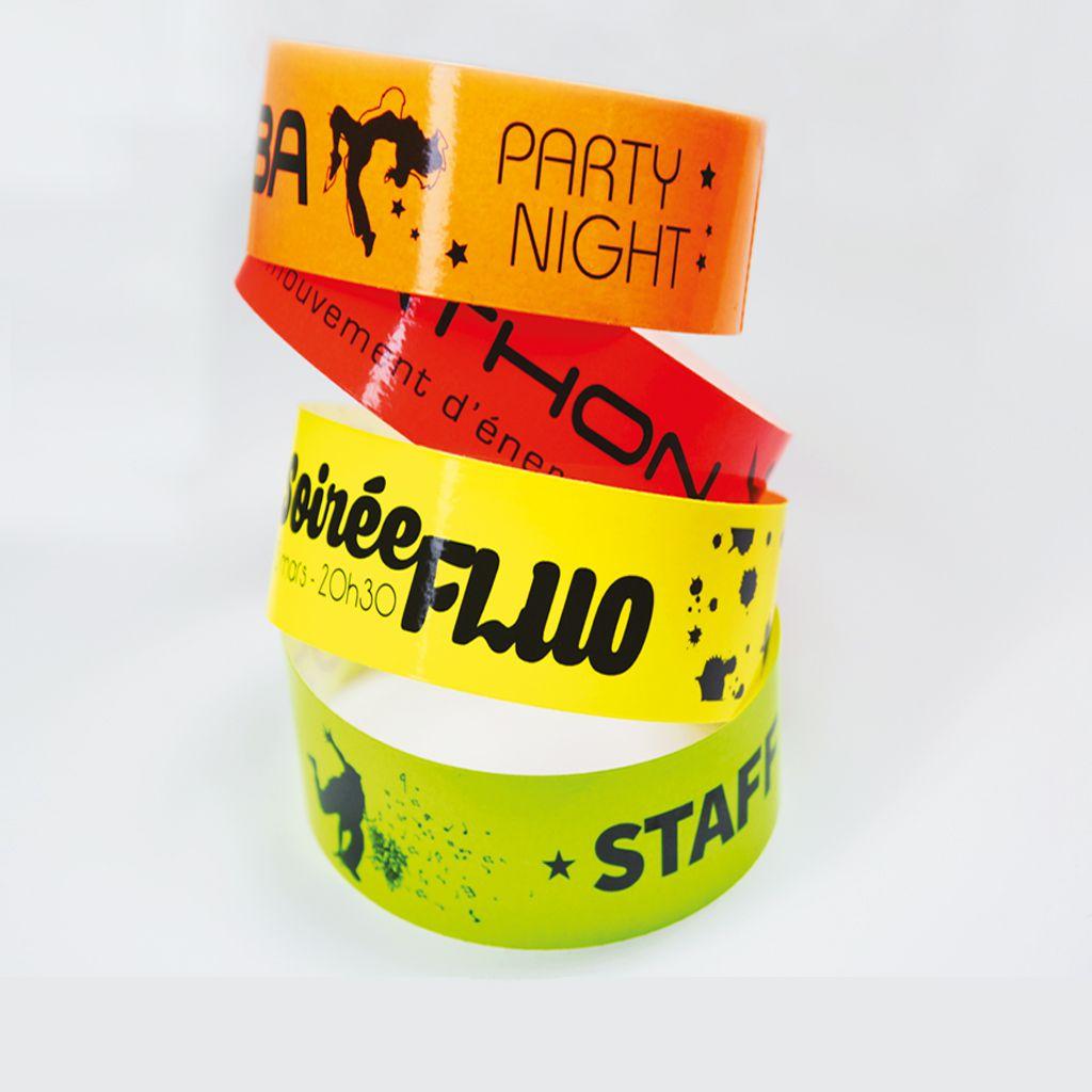 bracelets acces jaune vert orange rouge fluos