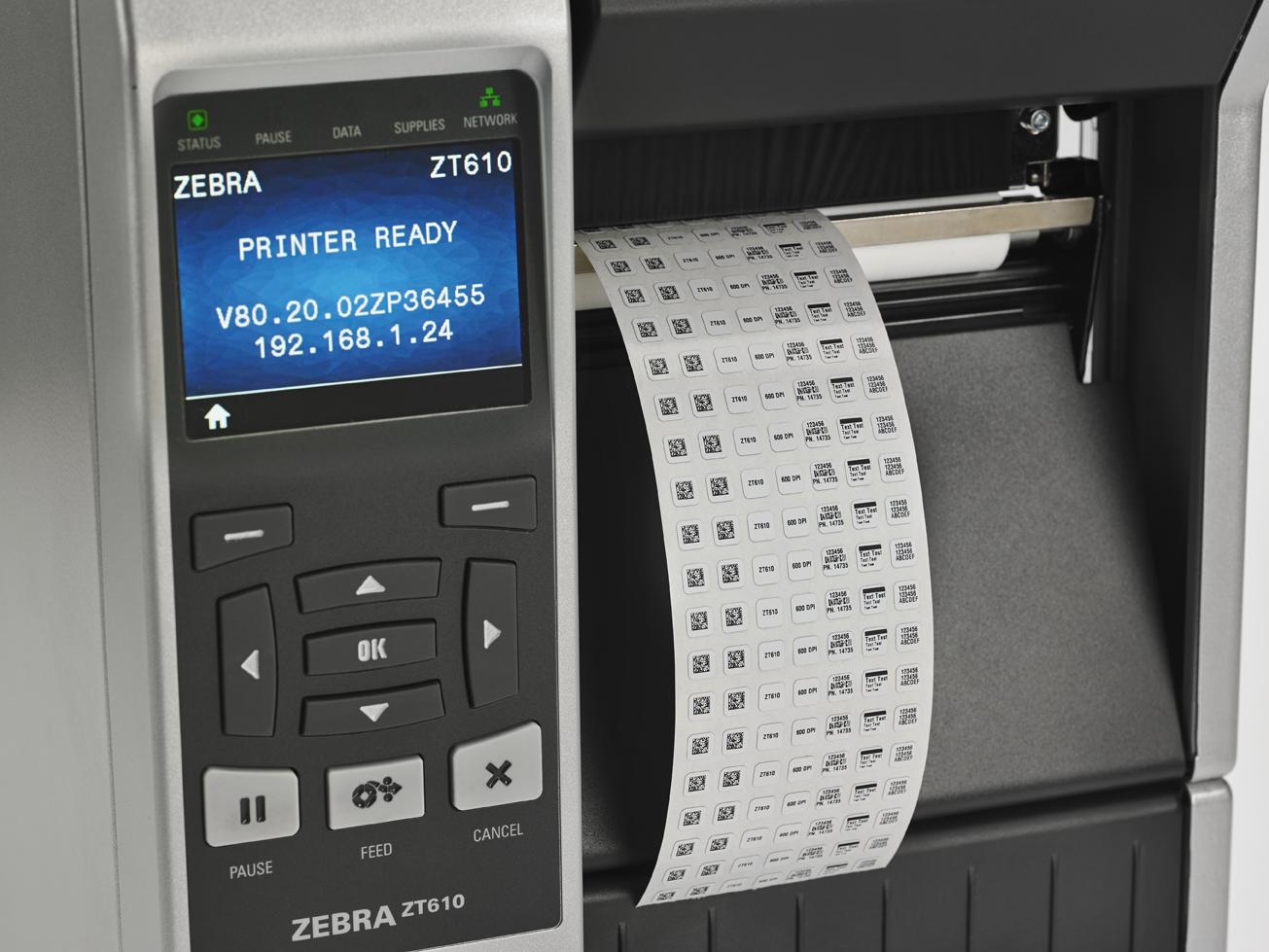 imprimantes étiquettes zebra zd610