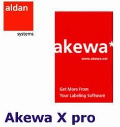 Logiciel code barre Akewa X pro