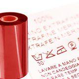 ruban textile transfert rouge satin polyamide