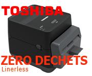 Imprimante Toshiba linerless sans déchets